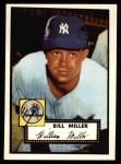1952 Topps REPRINT #403  Bill Miller  Front Thumbnail