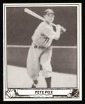 1940 Play Ball Reprint #43  Pete Fox  Front Thumbnail