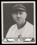 1940 Play Ball Reprint #230  Red Faber  Front Thumbnail