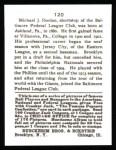 1915 Cracker Jack Reprint #120  Mike Doolan  Back Thumbnail