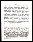 1915 Cracker Jack Reprint #161  Eddie Roush  Back Thumbnail