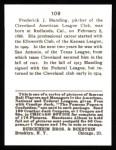 1915 Cracker Jack Reprint #109  Fred Blanding  Back Thumbnail