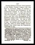 1915 Cracker Jack Reprint #107  Thomas Downey  Back Thumbnail