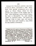 1915 Cracker Jack Reprint #80  Ed Ruelbach  Back Thumbnail