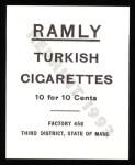 1909 T204 Ramly Reprint #43  Johnny Evers  Back Thumbnail