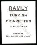 1909 T204 Ramly Reprint #111  Jake Stahl  Back Thumbnail