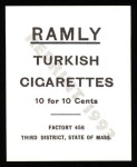 1909 T204 Ramly Reprint #28  Eddie Collins  Back Thumbnail