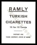 1909 T204 Ramly Reprint #6  Neal Ball  Back Thumbnail