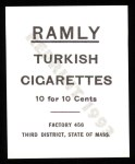1909 T204 Ramly Reprint #84  Tim Murname  Back Thumbnail