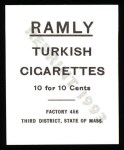 1909 T204 Ramly Reprint #110  Tubby Spencer  Back Thumbnail