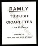 1909 T204 Ramly Reprint #91  Charley O'Leary  Back Thumbnail