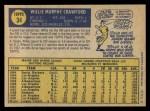 1970 O-Pee-Chee #34  Willie Crawford  Back Thumbnail