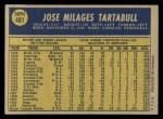 1970 O-Pee-Chee #481  Jose Tartabull  Back Thumbnail