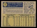 1970 O-Pee-Chee #495  Dave Morehead  Back Thumbnail