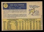 1970 O-Pee-Chee #142  Fritz Peterson  Back Thumbnail