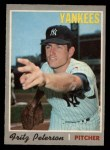 1970 O-Pee-Chee #142  Fritz Peterson  Front Thumbnail