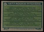 1977 Topps #487   -  Larry Anderson / Ed Glynn / Joe Henderson / Greg Terlecky Rookie Pitchers   Back Thumbnail