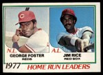 1978 Topps #202   -  George Foster / Jim Rice HR Leaders  Front Thumbnail