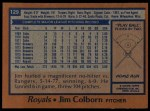 1978 Topps #129  Jim Colborn  Back Thumbnail