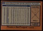 1978 Topps #323  Jim Fregosi  Back Thumbnail