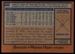 1978 Topps #649  Moose Haas  Back Thumbnail
