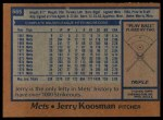1978 Topps #565  Jerry Koosman  Back Thumbnail