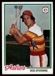 1978 Topps #514  Rob Sperring  Front Thumbnail