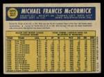 1970 O-Pee-Chee #337  Mike McCormick  Back Thumbnail
