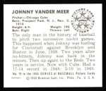 1950 Bowman REPRINT #79  Johnny VanderMeer  Back Thumbnail