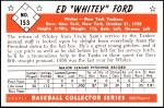 1953 Bowman REPRINT #153  Whitey Ford  Back Thumbnail