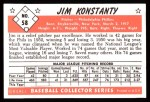1953 Bowman B&W Reprint #58  Jim Konstanty  Back Thumbnail
