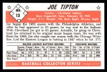 1953 Bowman B&W Reprint #13  Joe Tipton  Back Thumbnail