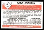 1953 Bowman B&W Reprint #20  Eddie Robinson  Back Thumbnail