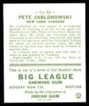 1933 Goudey Reprint #83  Pete Jablonowski  Back Thumbnail