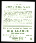 1933 Goudey Reprint #79  Red Faber  Back Thumbnail