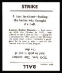 1936 Goudey Reprint #17  Rollie Hemsley  Back Thumbnail