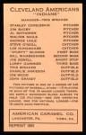 1922 E120 American Caramel Reprint #31  Jim Bagby  Back Thumbnail