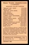 1922 E120 American Caramel Reprint #61  Home Run Baker  Back Thumbnail