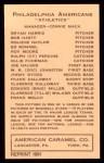 1922 E120 American Caramel Reprint #79  Clarence Galloway  Back Thumbnail