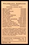 1922 E120 American Caramel Reprint #86  Roleine Naylor  Back Thumbnail