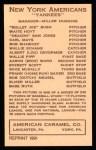 1922 E120 American Caramel Reprint #64  Waite Hoyt  Back Thumbnail