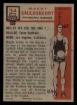 1957 Topps #34  Woody Sauldsberry  Back Thumbnail
