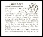 1950 Bowman REPRINT #39  Larry Doby  Back Thumbnail