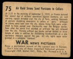 1939 Gum Inc. War News Pictures #75   Air Raid Sirens Send Parisians To Cellars Back Thumbnail