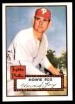 1952 Topps REPRINT #209  Howie Fox  Front Thumbnail