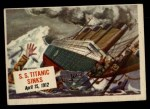 1954 Topps Scoop #17   SS Titanic Sinks  Front Thumbnail