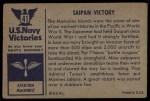 1954 Bowman U.S. Navy Victories #41   Saipan Victory Back Thumbnail