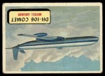 1957 Topps Planes #81 BLU  Dh-106 Comet Front Thumbnail