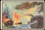 1954 Bowman U.S. Navy Victories #6   Spanish Fleet Destroyed Front Thumbnail