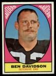 1967 Topps #116  Ben Davidson  Front Thumbnail